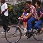 parents on bike